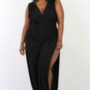 cd28733e9ce0 Pants - Black Sleeveless Wrap Jumpsuit w/ Slits